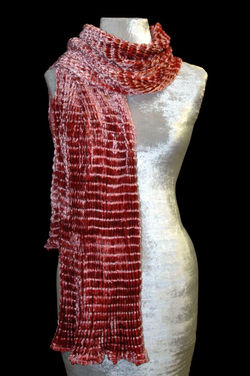 Écharpes en velours plissé