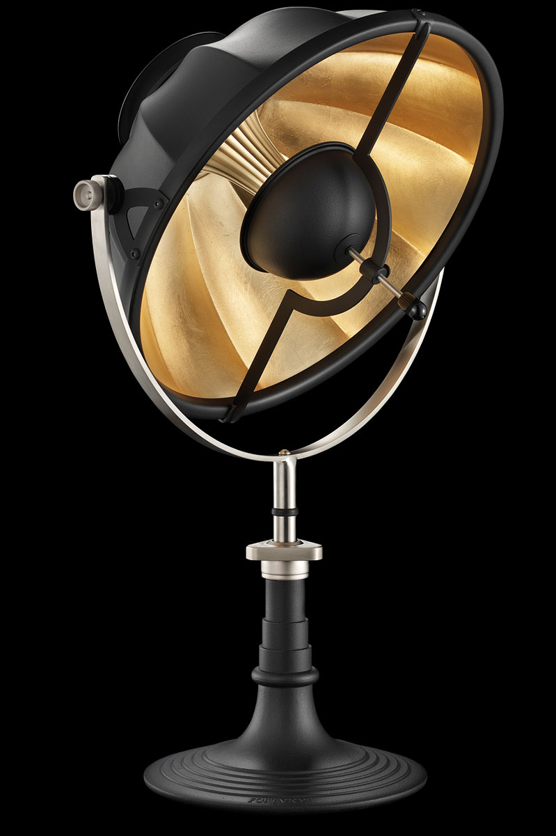Lampe de table Fortuny Armilla 41 Noire et Feuille d'Or
