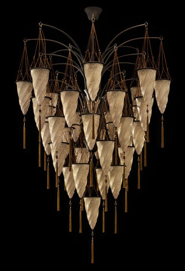 Cesendello Cascade glass ceiling lamp
