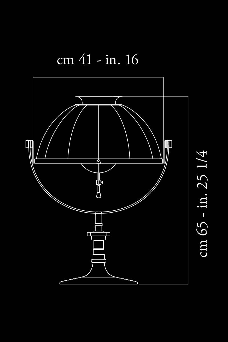 Lampe de table Fortuny Armilla 41 dimensions
