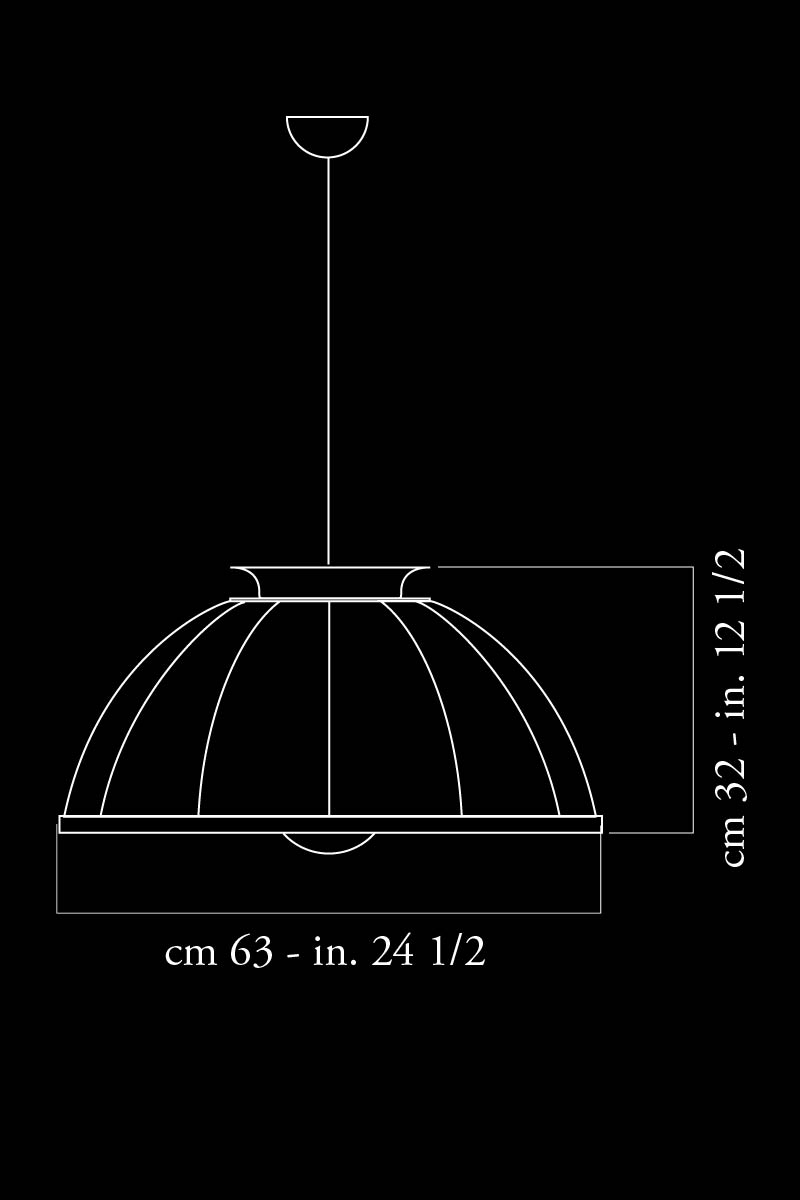 Suspension Fortuny Cupola 63 dimensions