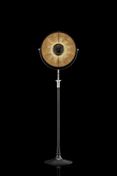 Studio 1907 Fortuny lampadaire Atelier 41 noir et feuille d'or