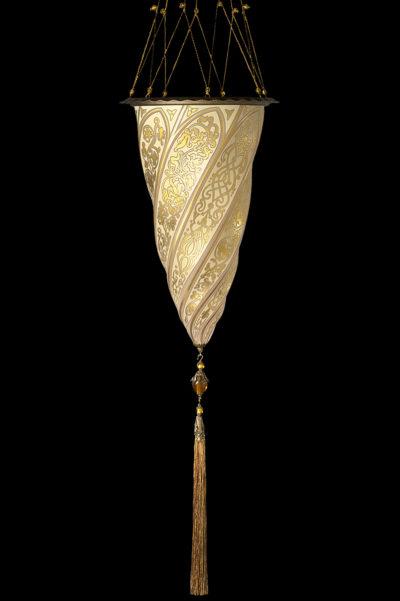 Cesendello Fortuny suspension en verre doré