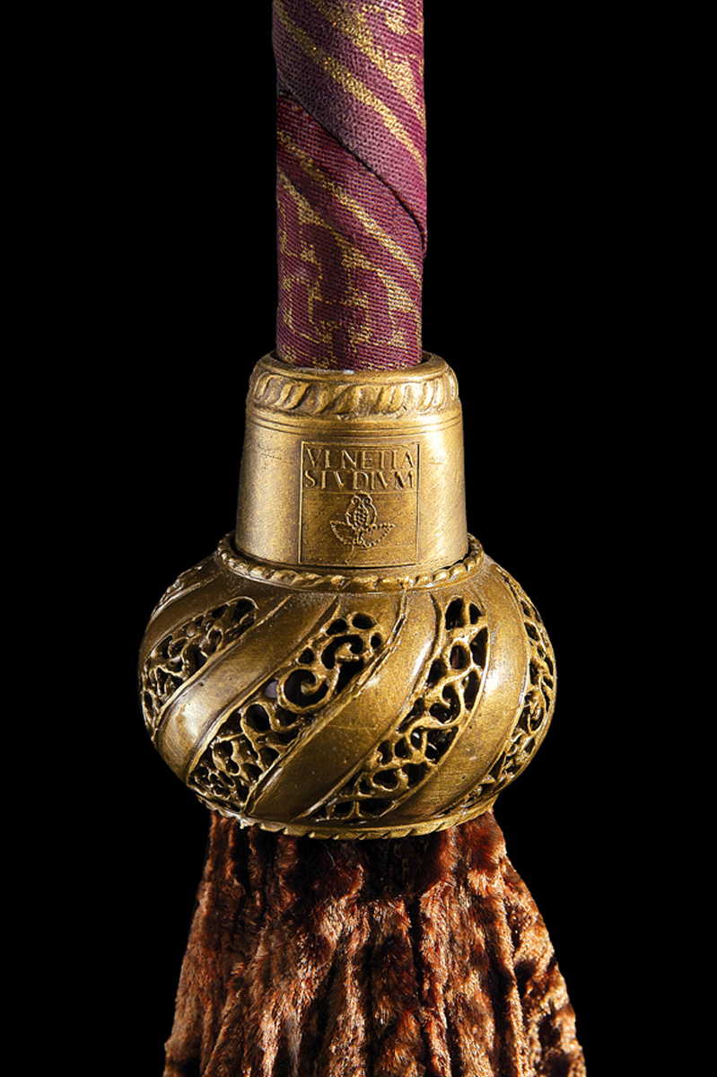 Cesendello Fortuny lampadaire en verre , détail