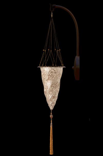 Applique avec arche en suspension Fortuny® Cesendello décoration argent