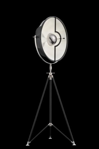 Lampadaire trépied Fortuny Studio 63 noir et blanc