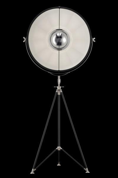 Lampadaire trépied Fortuny ® Studio 76 noir et blanc
