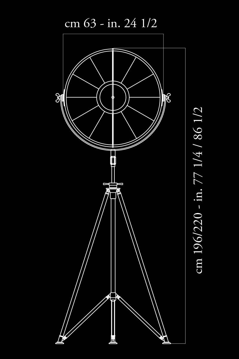 Fortuny Studio 63 lamp dimensions