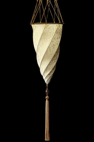 Cesendello Fortuny lampe en soie