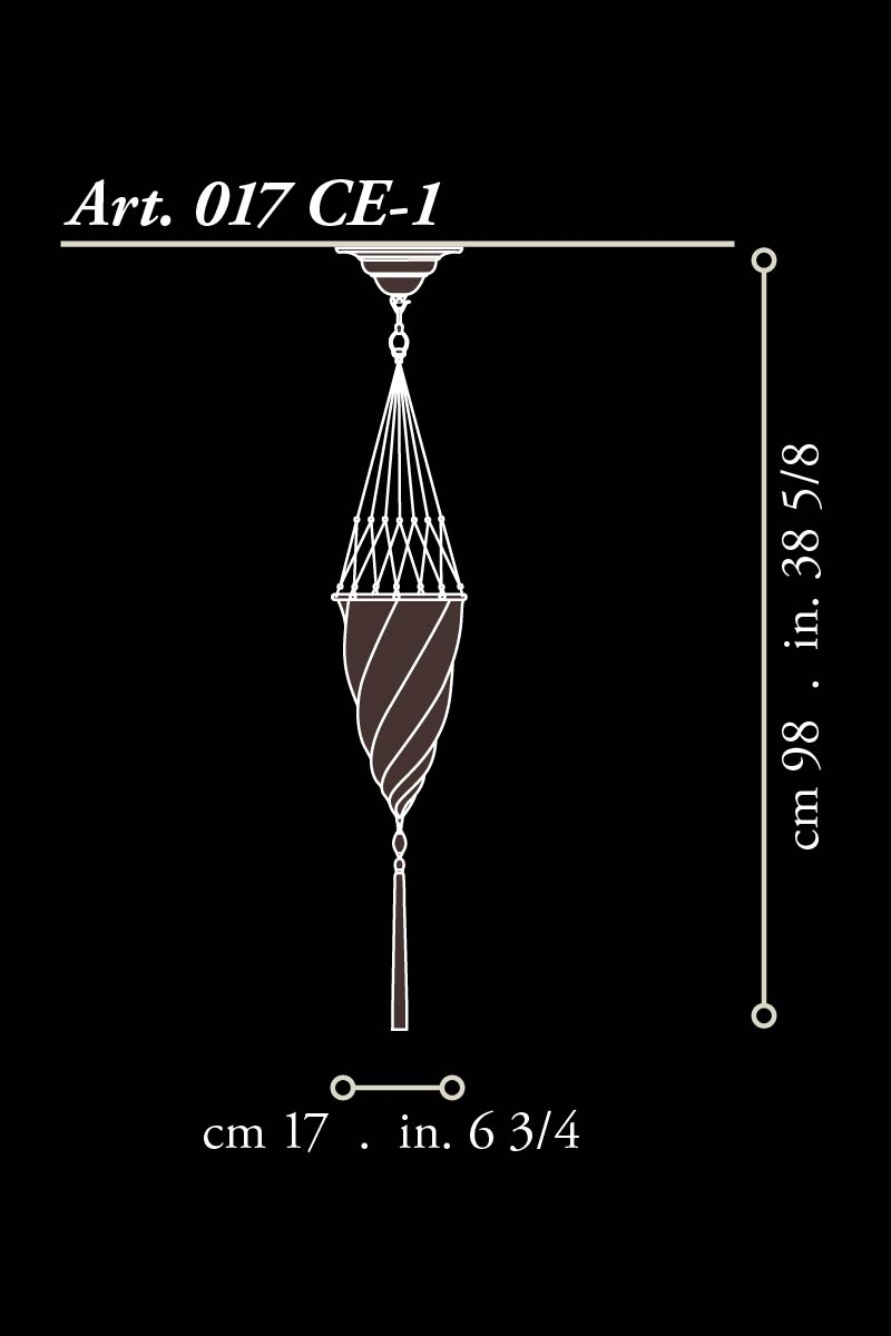 Lampe en soie ivoire Fortuny Cesendello dimensions