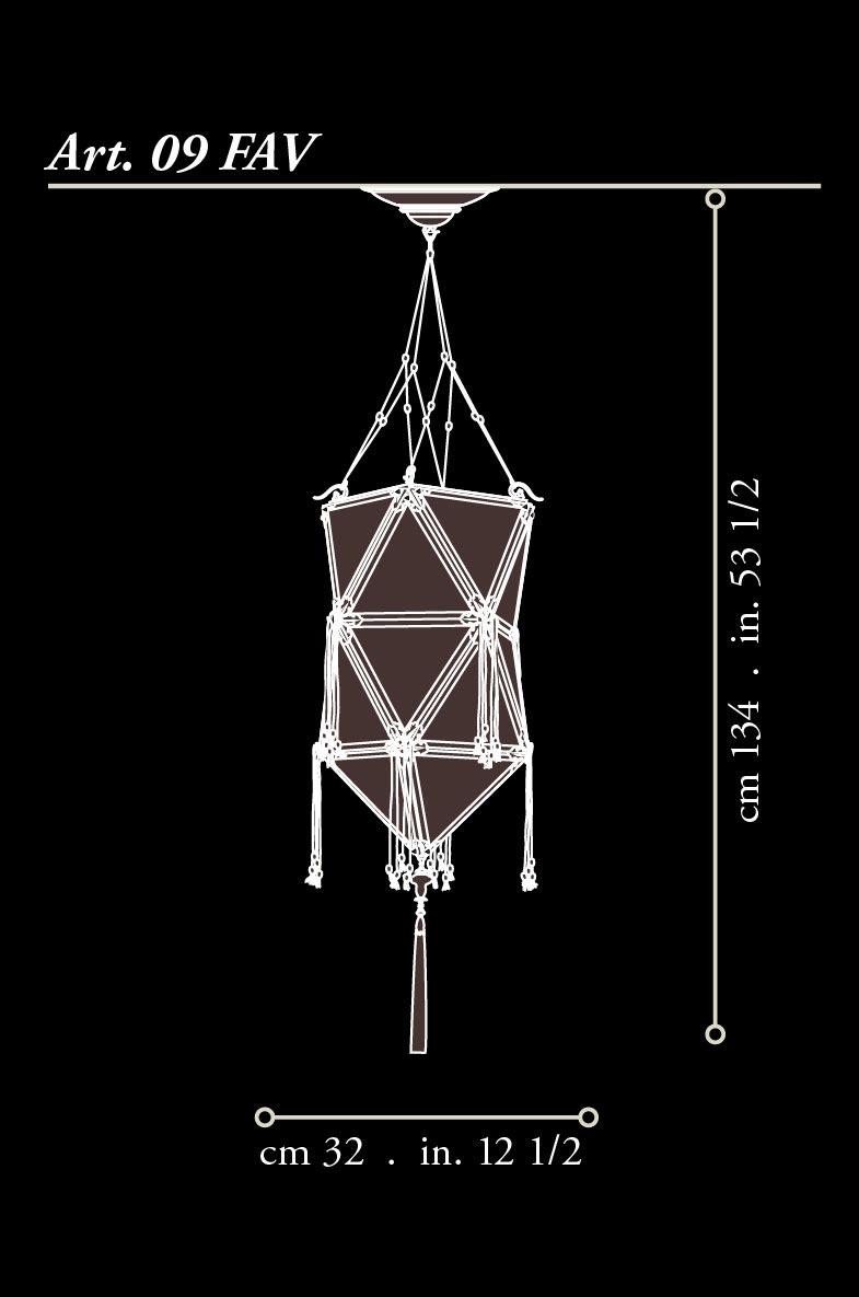 Fortuny Concubine Favorita lampe en soie dimensions