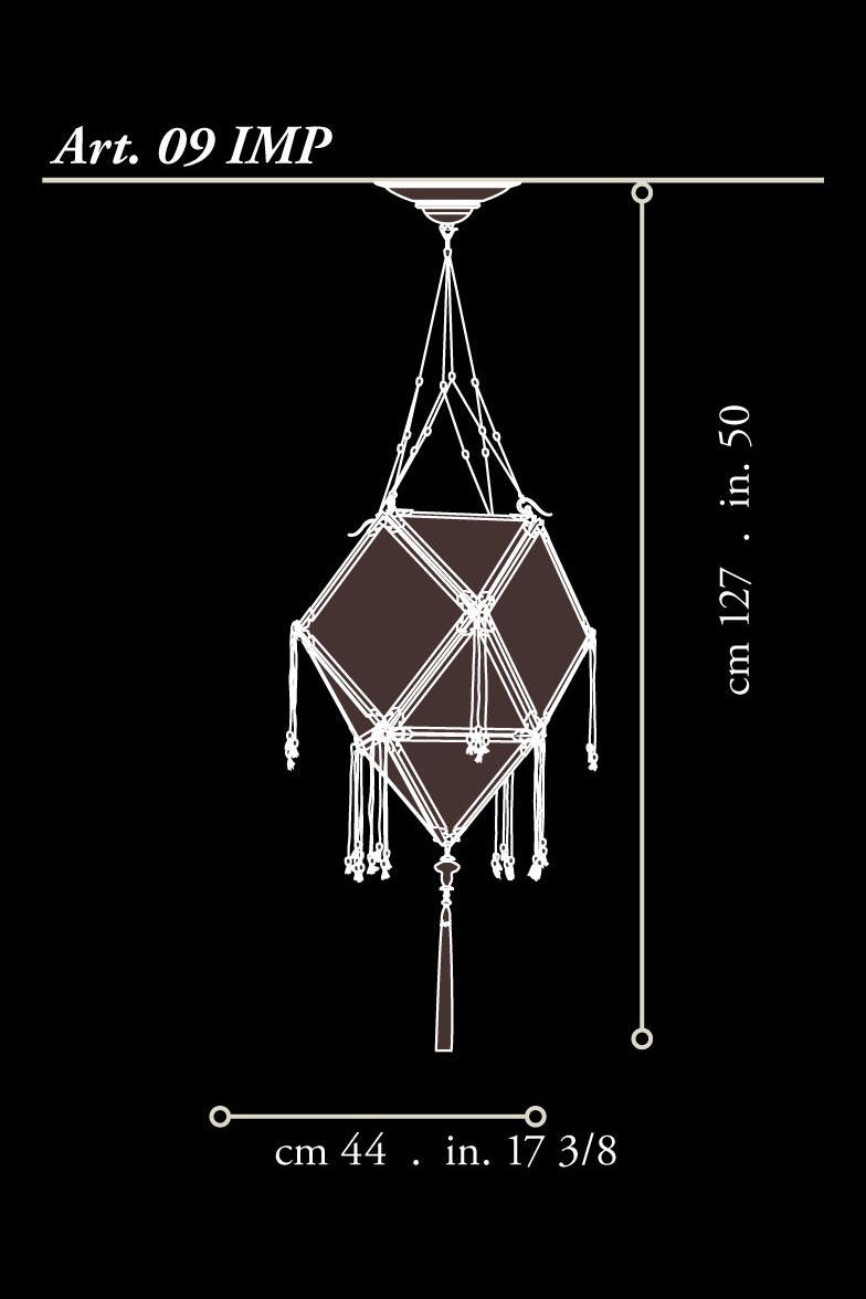 Fortuny Concubine Imperiale lampe en soie dimensions