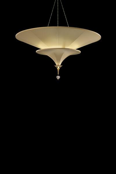 Icaro à 3 niveaux lampe ivoire en fibre de verre