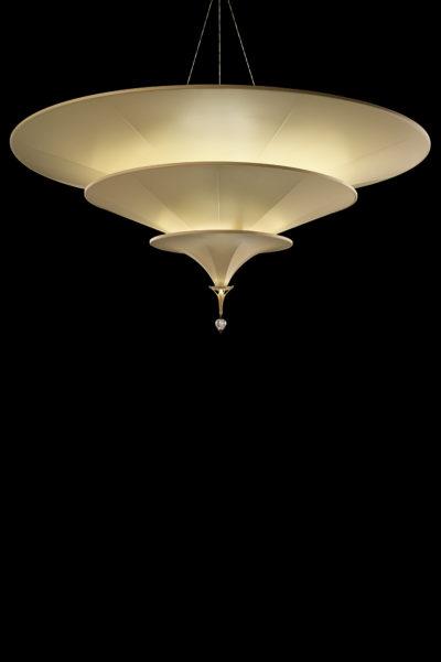 Icaro lampe ivoire en fibre de verre à 3 niveaux