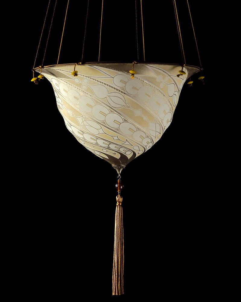 Fortuny Samarkanda Decò silk lamp
