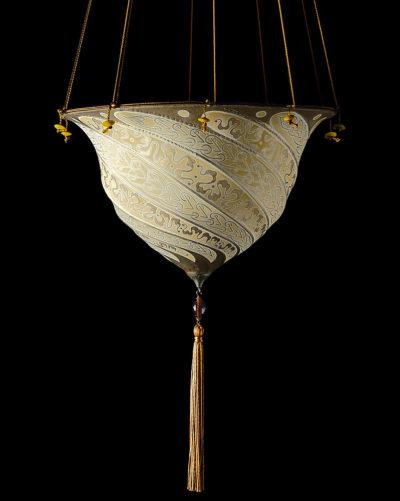 Lampe en soie Samarkanda Serpentine Fortuny