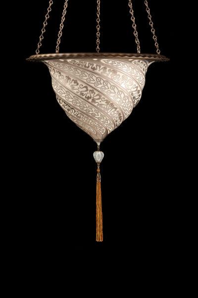 Lampe en verre Samarkanda décoration argent