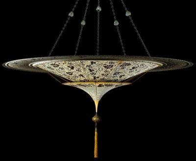Fortuny® Scheherazade à 2 niveaux décoration florale avec l'anneau en métal