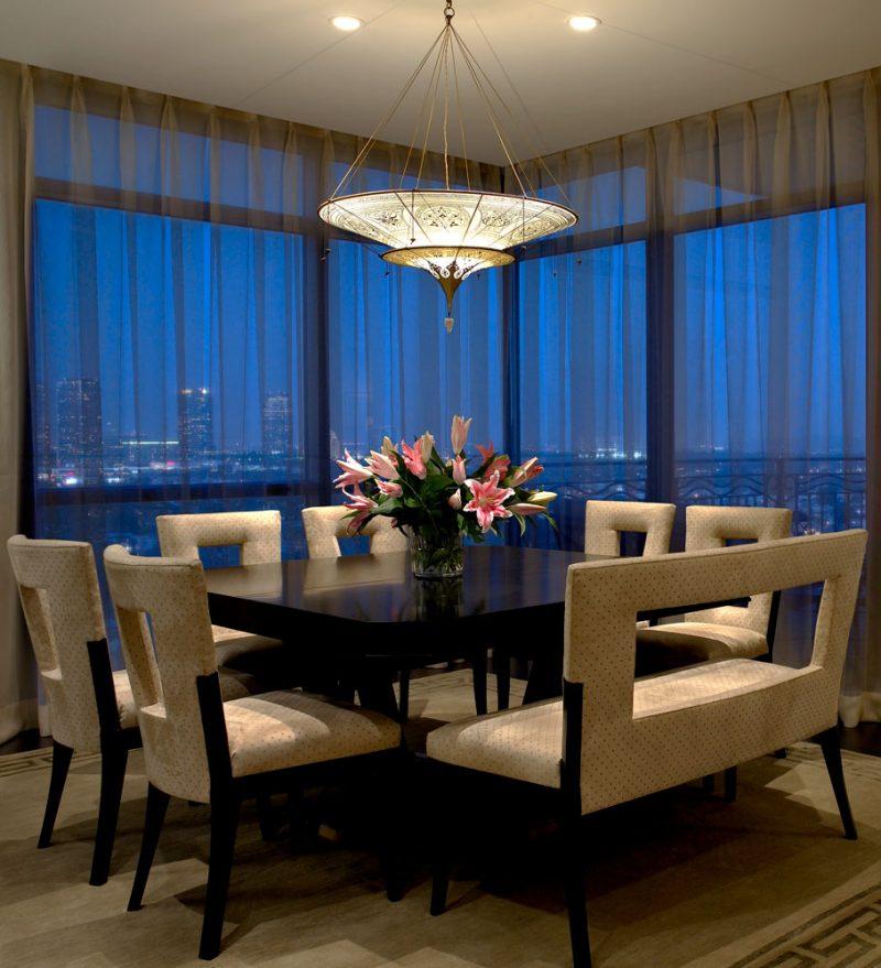 Lampe en soie Scheherazade à 2 niveaux Fortuny décoration Géométrique, intérieur