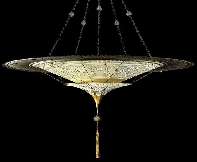 Fortuny® Scheherazade à 2 niveaux décoration Géométrique avec l'anneau en métal