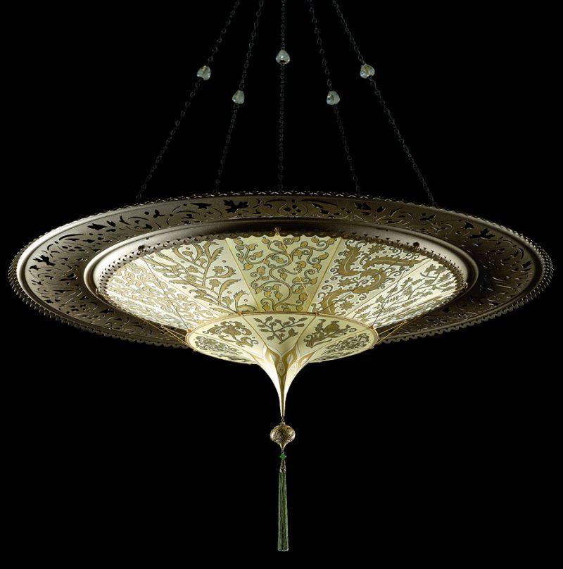 Fortuny® Scheherazade à 2 niveaux décoration Herbarium avec l'anneau en métal, vue de dessous