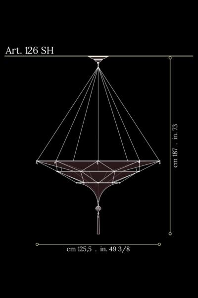 Scheherazade Fortuny, dimensions