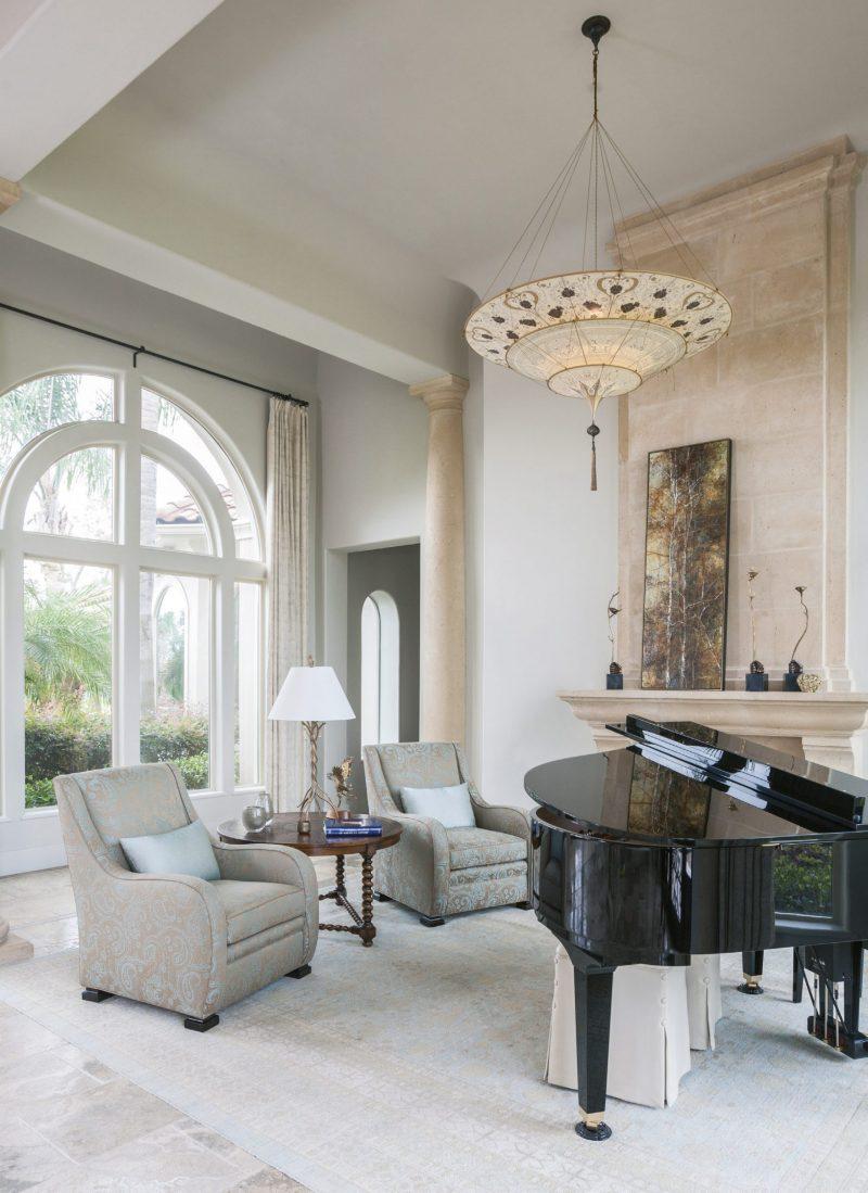 Lampe en soie à 3 niveaux Scheherazade Fortuny décoration Géométrique, intérieur 3