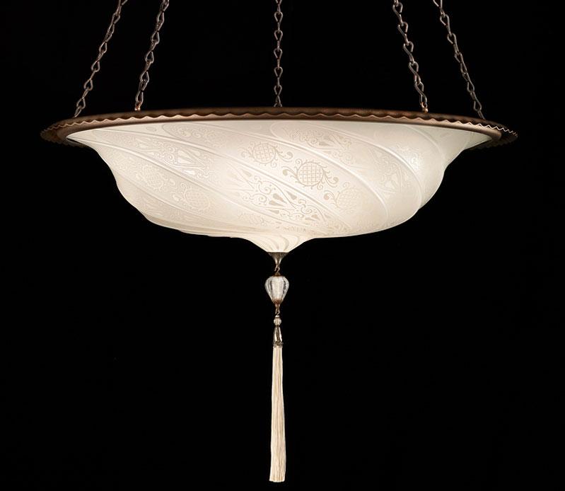 Fortuny Scudo Saraceno en verre Blanc Classic