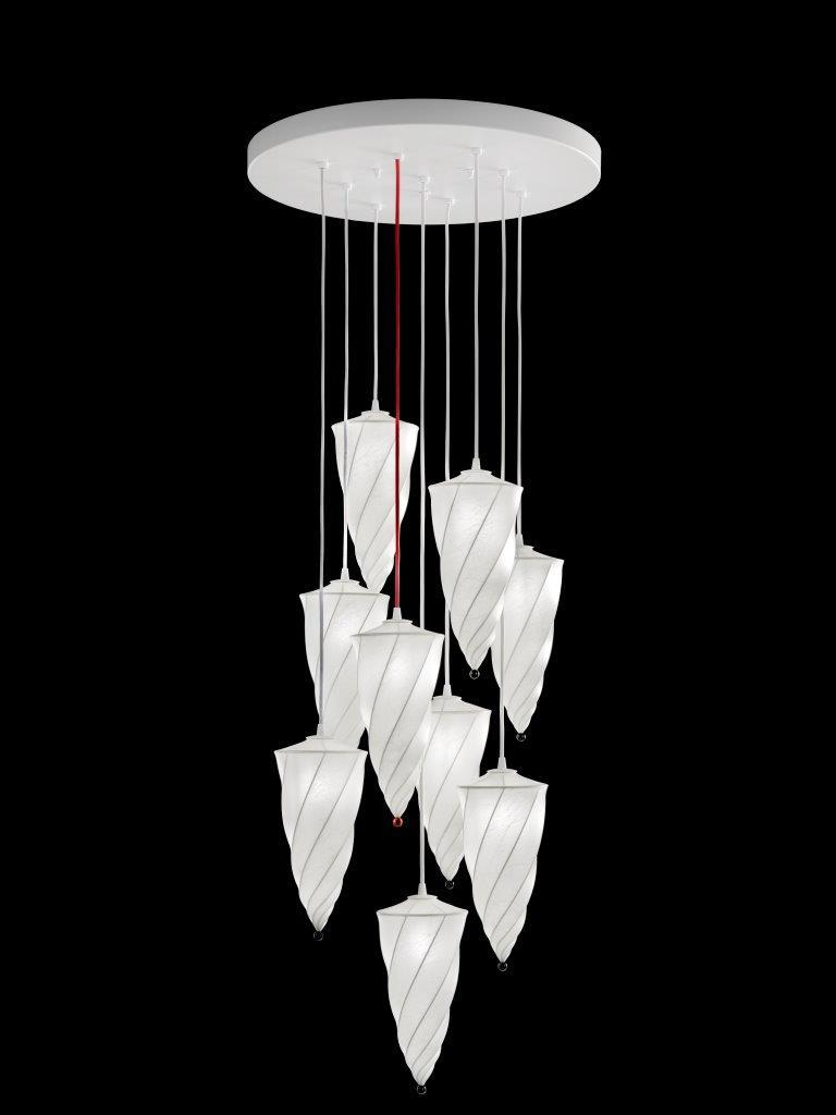 Lustre Cesendello Fortuny Cocoon blanc