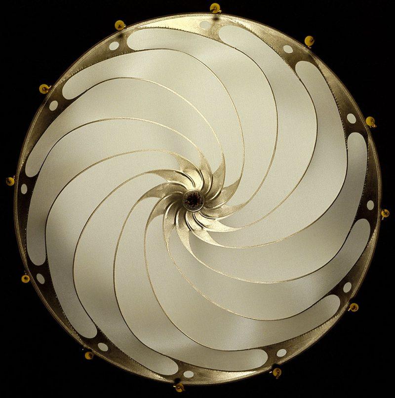 Fortuny® Scudo Saraceno Plain, lampe en soie unie ivoire