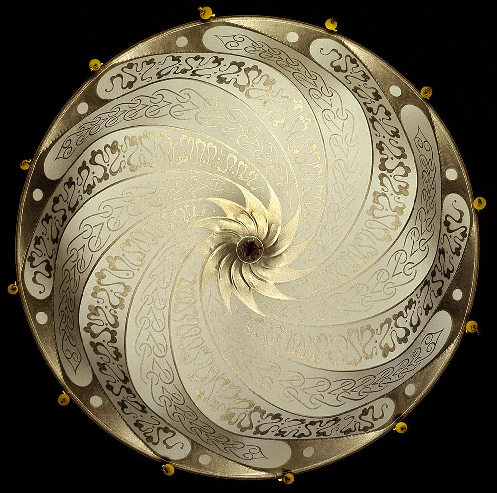 Lampe Scudo Saraceno en soie ivoire décoration Serpentine