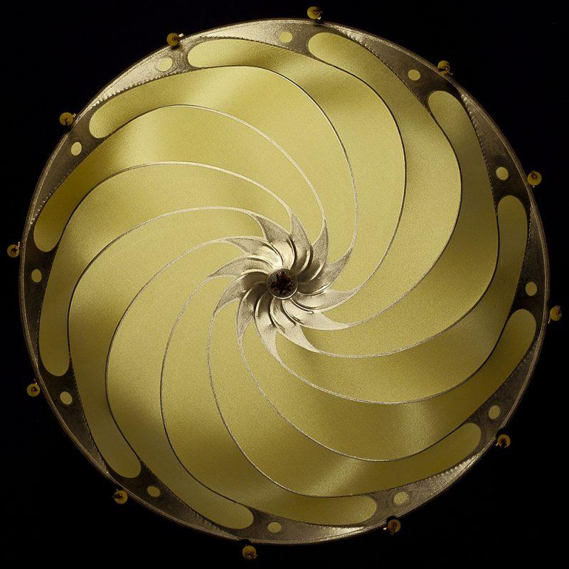 Fortuny® Scudo Saraceno Plain, lampe en soie unie ocre jaune