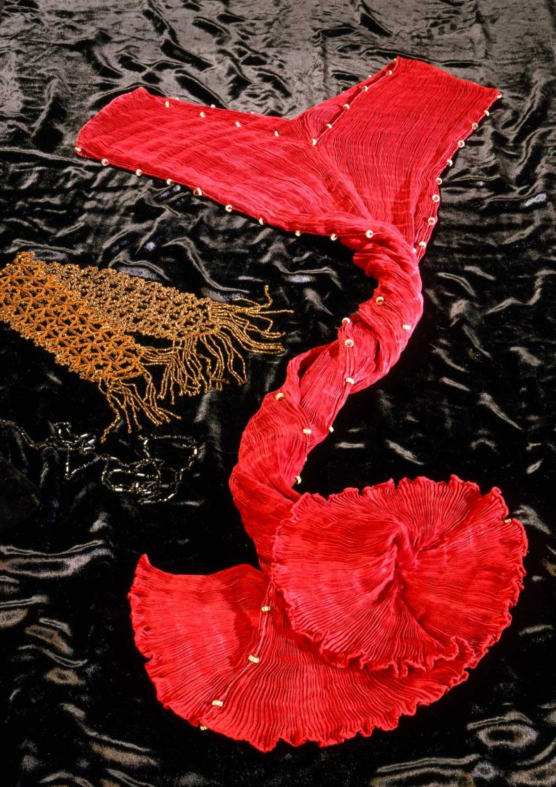 Robe en soie Delphos photo