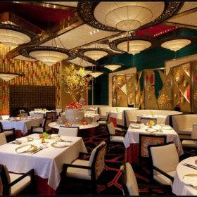 GOLDEN FLOWER Restaurant en Chine avec lampes Fortuny