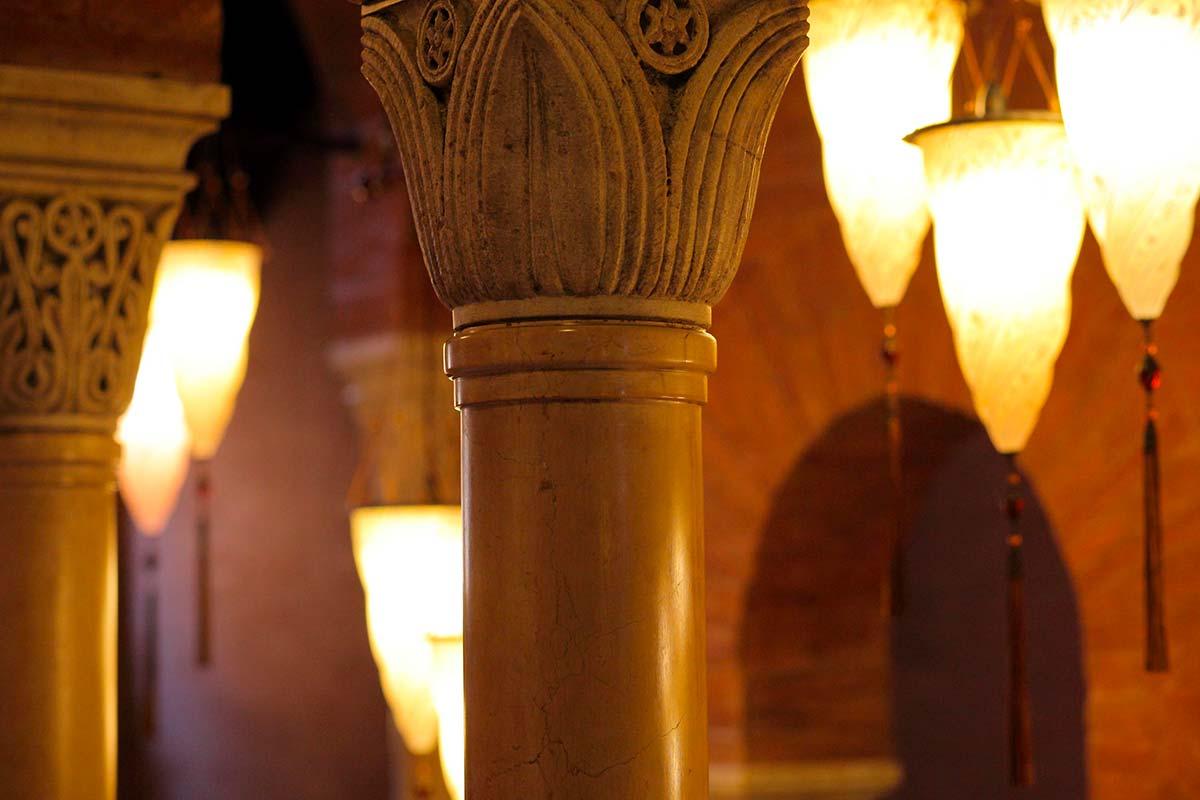 Palazzo Stern à Venise avec lampes Fortuny 4