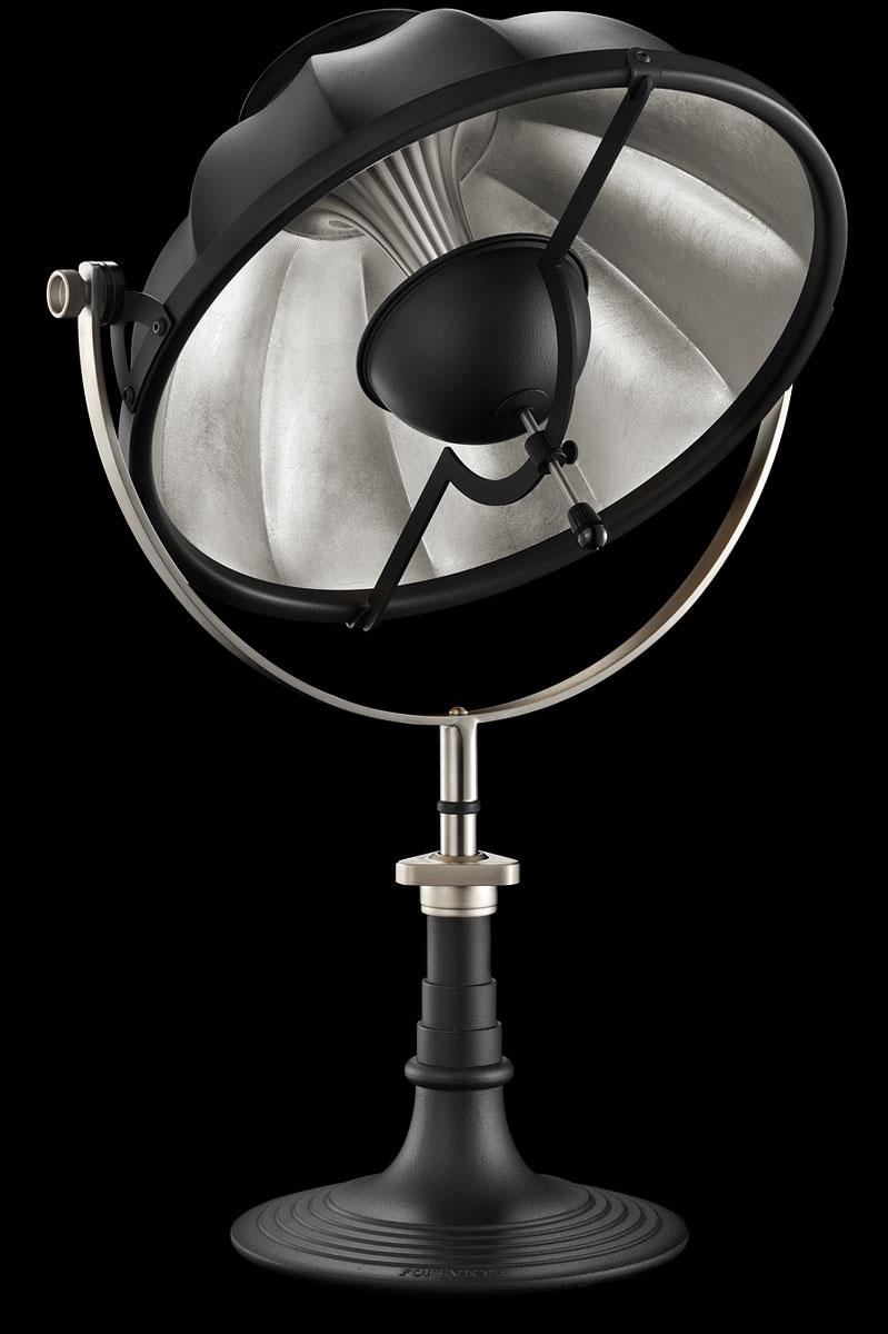 Lampe de table Fortuny Armilla 41 Noire et Feuille d'Argent
