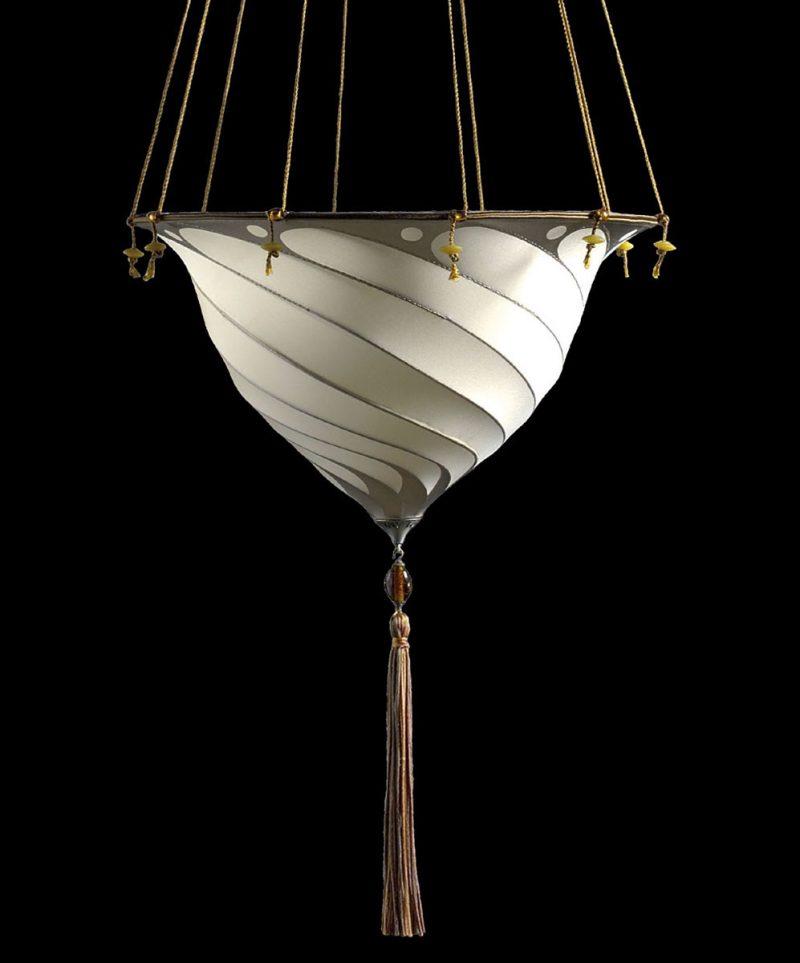 Lampe en soie unie Samarkanda Plain Fortuny