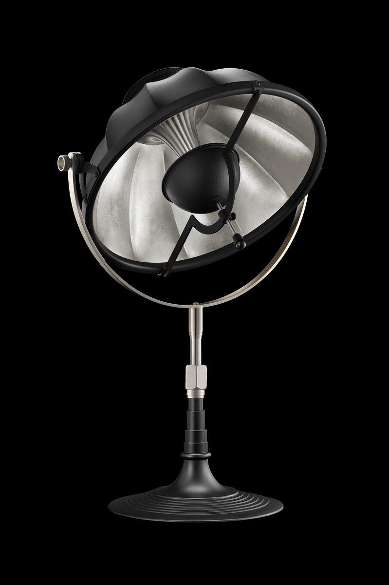 Lampe de table Fortuny Armilla 32 Noire et Feuille d'Argent