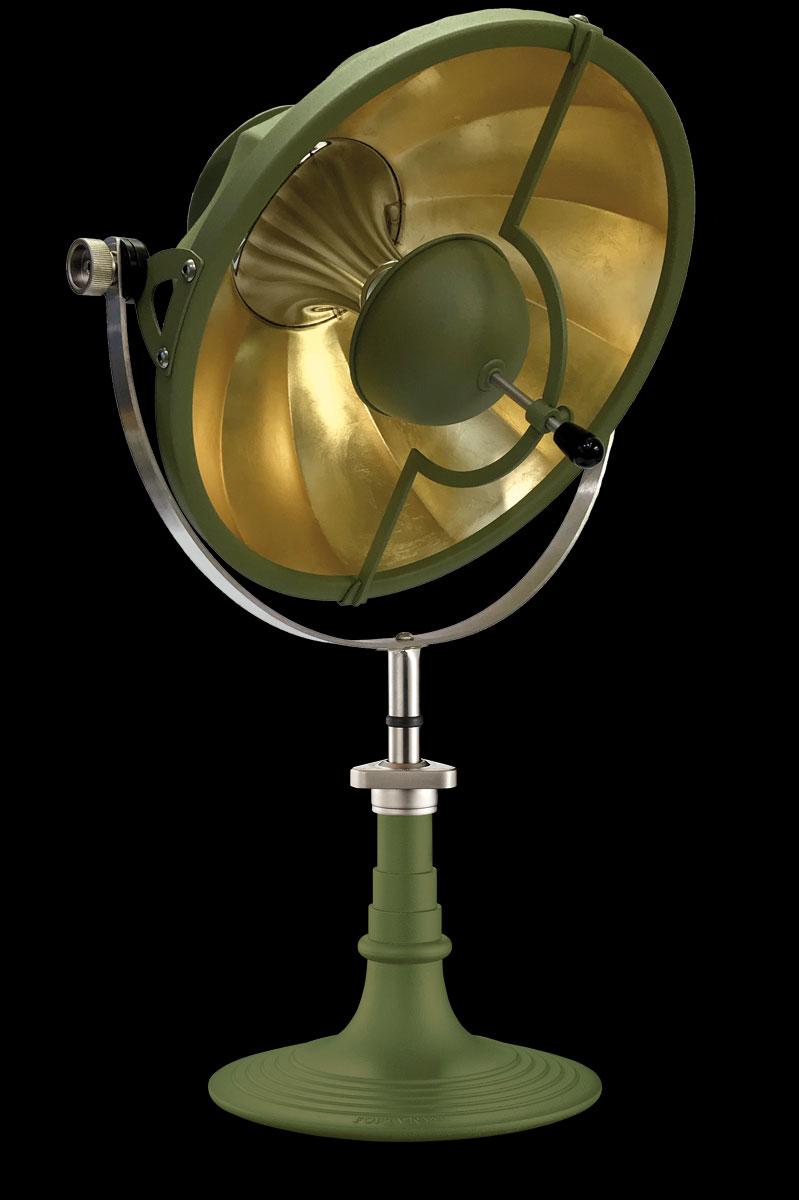 Lampe à poser Fortuny Armilla 41 Vert Pastel et Feuille d'Or