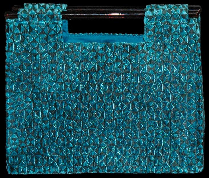 Sac en velours bleu clair Fortuny Aiko Alessandrino