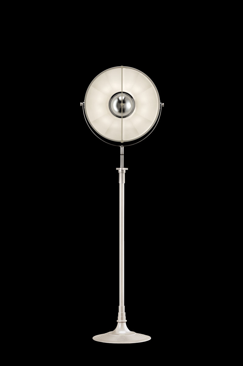 Studio 1907 Fortuny lampadaire Atelier 41 blanc