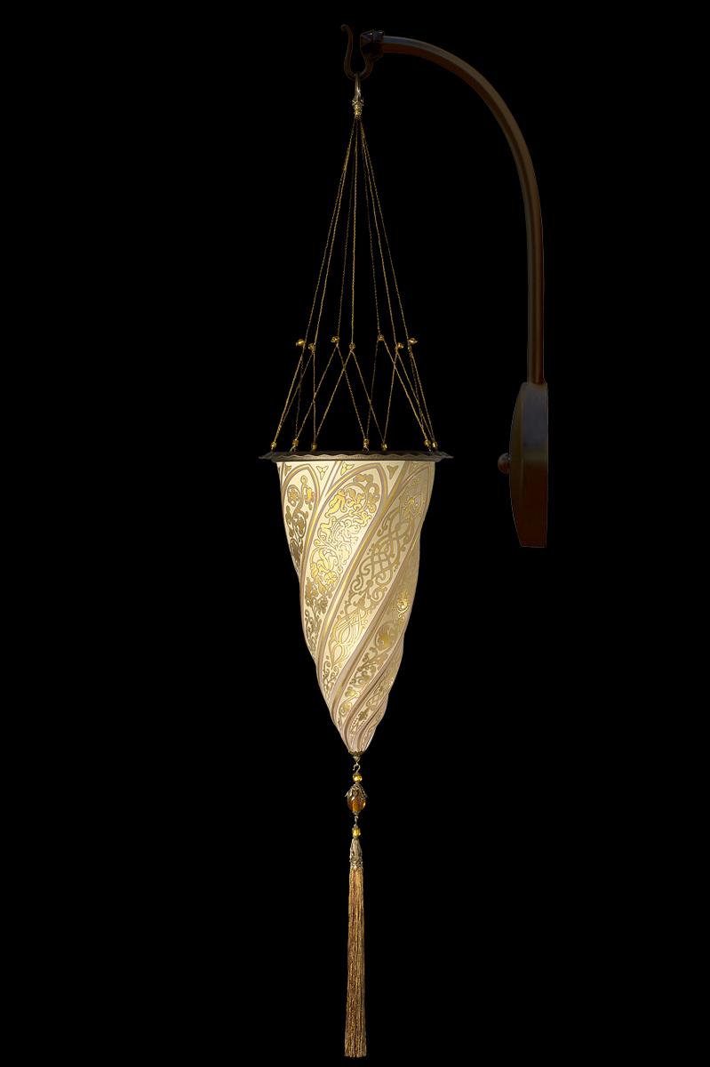 Cesendello applique en verre avec arche en suspension