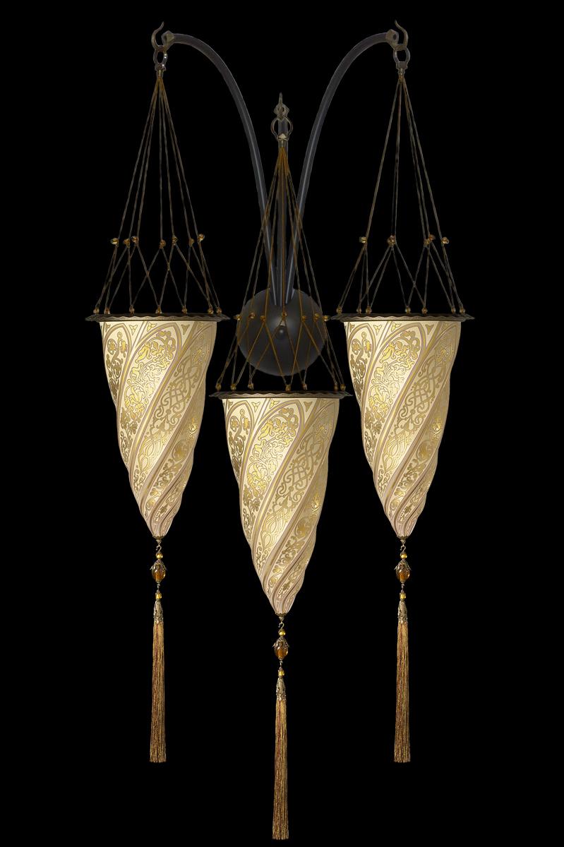 Applique Cesendello triple arche en verre