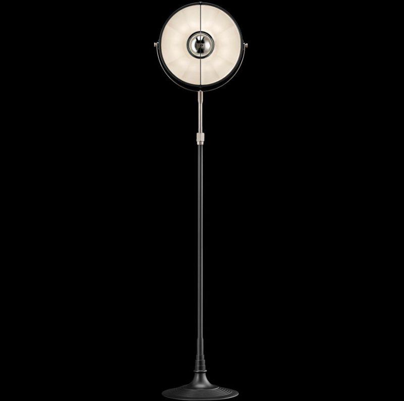 Studio 1907 Fortuny lampadaire Atelier 32 noir et blanc