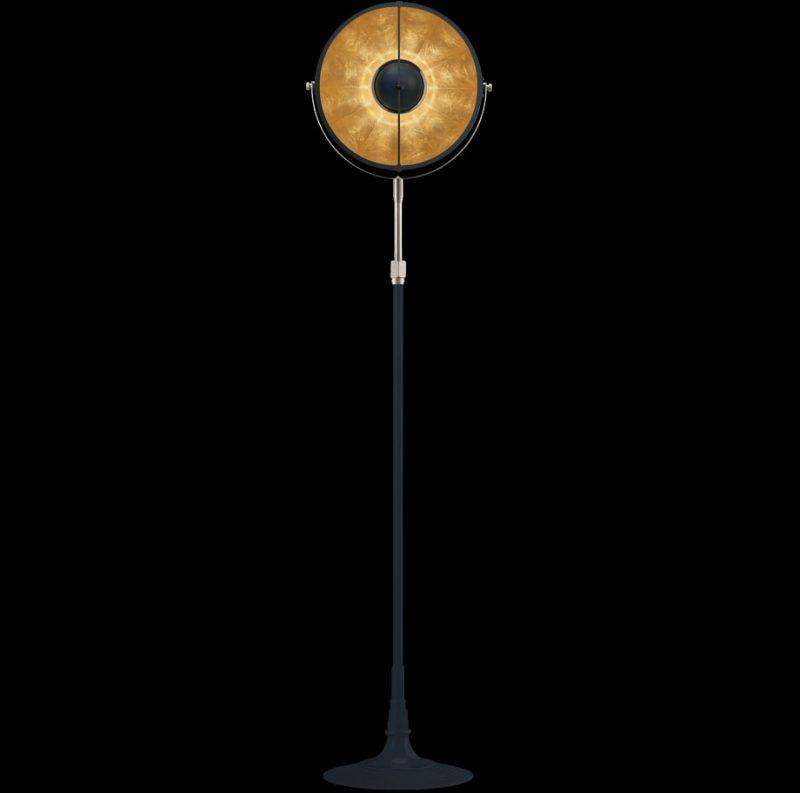 Studio 1907 Fortuny lampadaire Atelier 32 bleu pastel et feuille d'or