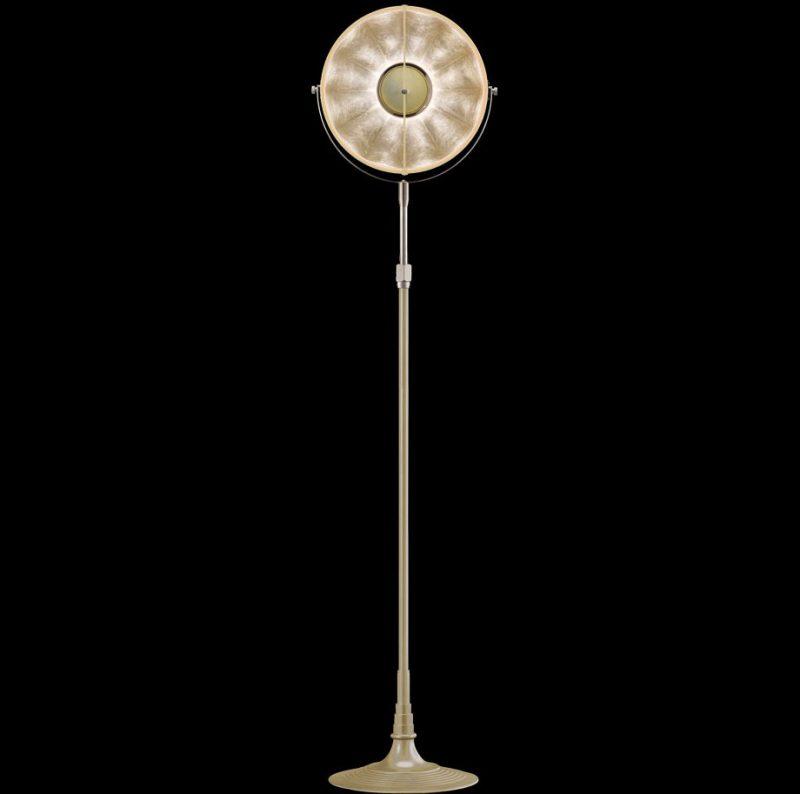 Studio 1907 Fortuny lampadaire Atelier 32 quartz et feuille d'argent
