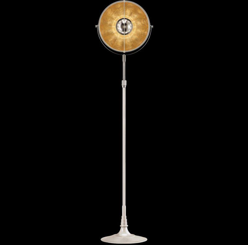 Studio 1907 Fortuny lampadaire Atelier 32 blanc et feuille d'or