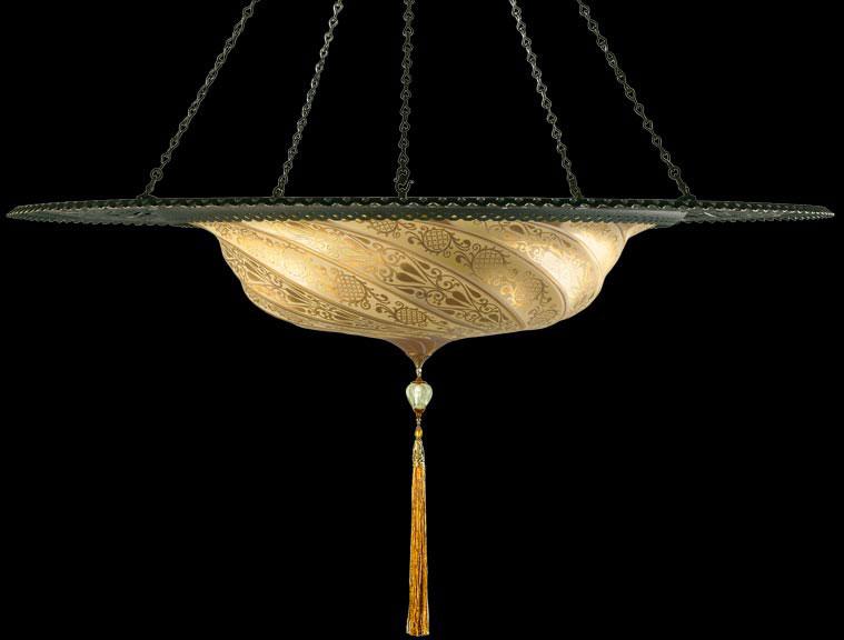 Scudo Saraceno en verre avec l'anneau en métal