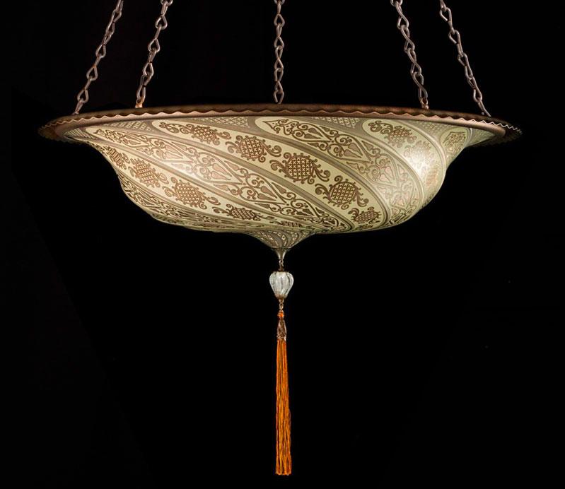 Lampe Fortuny Scudo Saraceno en verre Or Classic