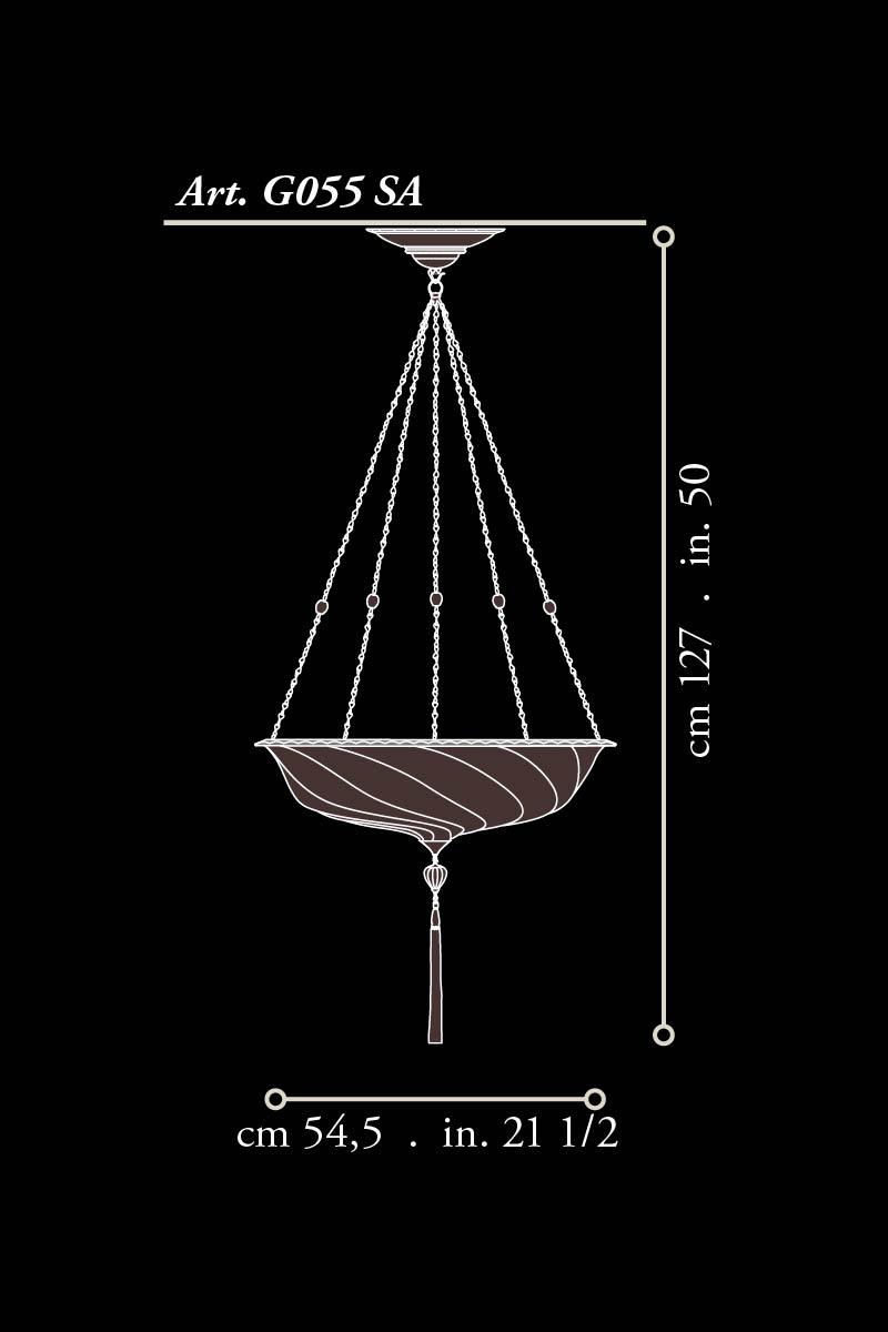 Fortuny glass Scudo Saraceno small dimensions